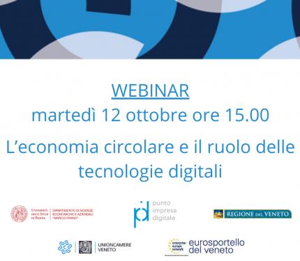 webinar 12 ottobre l'economia circolare e le tecnologie digitali