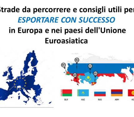 Esportare in Europa e nei paesi dell'unione Euroasiatica