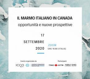 Il marmo in Canada-webinar 17 settembre 2020 ore 16.00