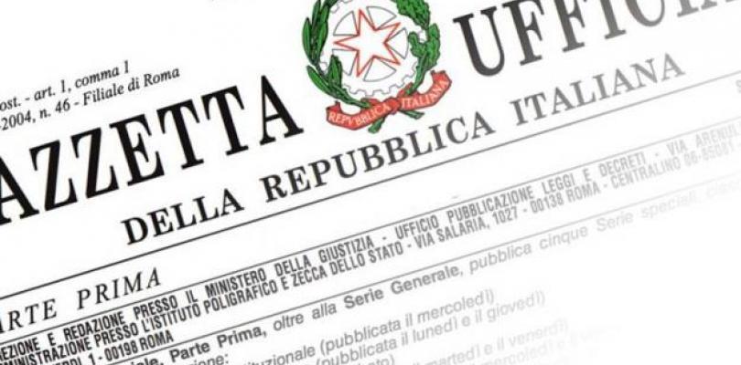 Immagine Gazzetta Ufficiale Italiana